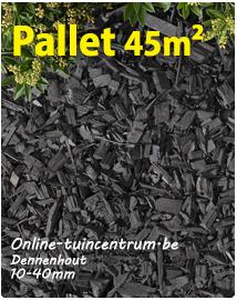 Grijze houtsnippers 10/40mm per pallet 45m²