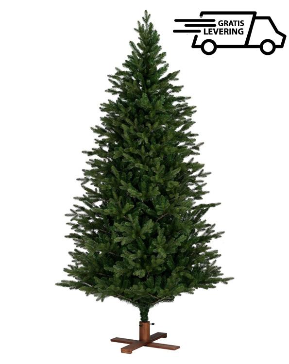 Kerstboom met houten voet Wooden King  213cm