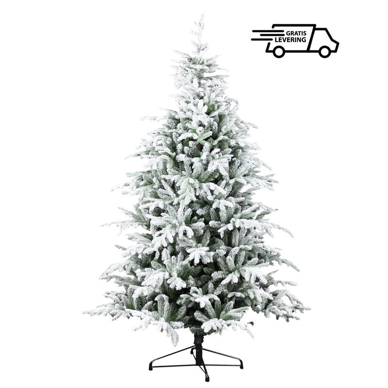 Kerstboom met laagje sneeuw Snowy Milly 228 cm