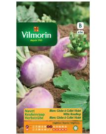 Vilmorin Keukenraap zaden Witte Roodkop 5g