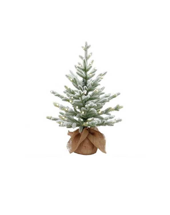 Kleine kunstkerstboom Flocky met sneeuw 75cm