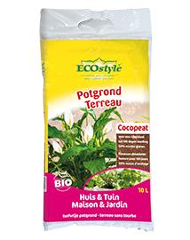Kokospotgrond met cocosvezel 10L Ecostyle Cocopeat