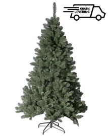 Donkergroene kunstkerstboom Everdell 210cm