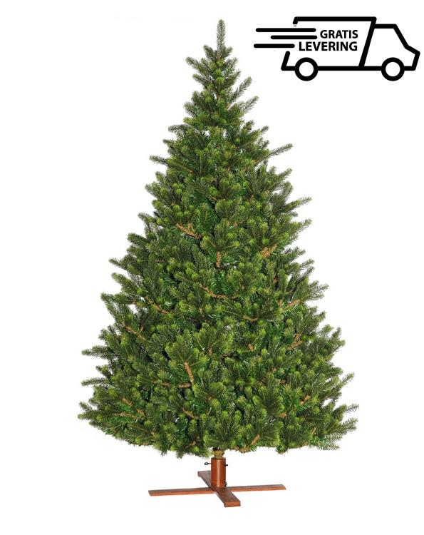 """Deluxe kunststofkerstboom met houten voet """"Lucky P"""" 183 cm"""