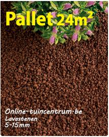 Lavakorrels als bodembedekker 5/15mm 24m²