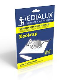 Edialux Ecotrap Muizen lijmval 3 stuks