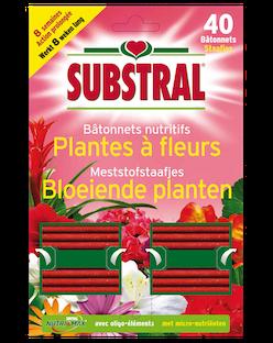 Substral Meststofstaafjes voor Bloeiende Planten 40stuks