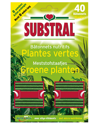 Substral Meststofstaafjes voor Groene Planten 40stuks