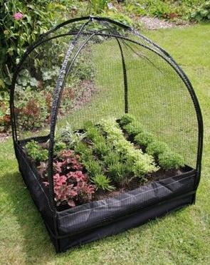 Mini Tuinserre met beschermingsfolie en net