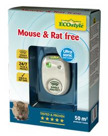 Ultrasone verjager tegen muizen en ratten in huis 50m²