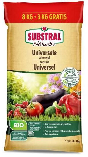 Naturen Universele Tuinmest biologisch 8+3kg gratis