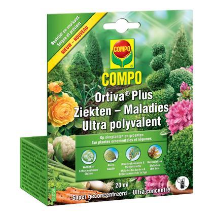 Ortiva Plus tegen bladvlekkenziekte op sierplanten en groenten 20ml