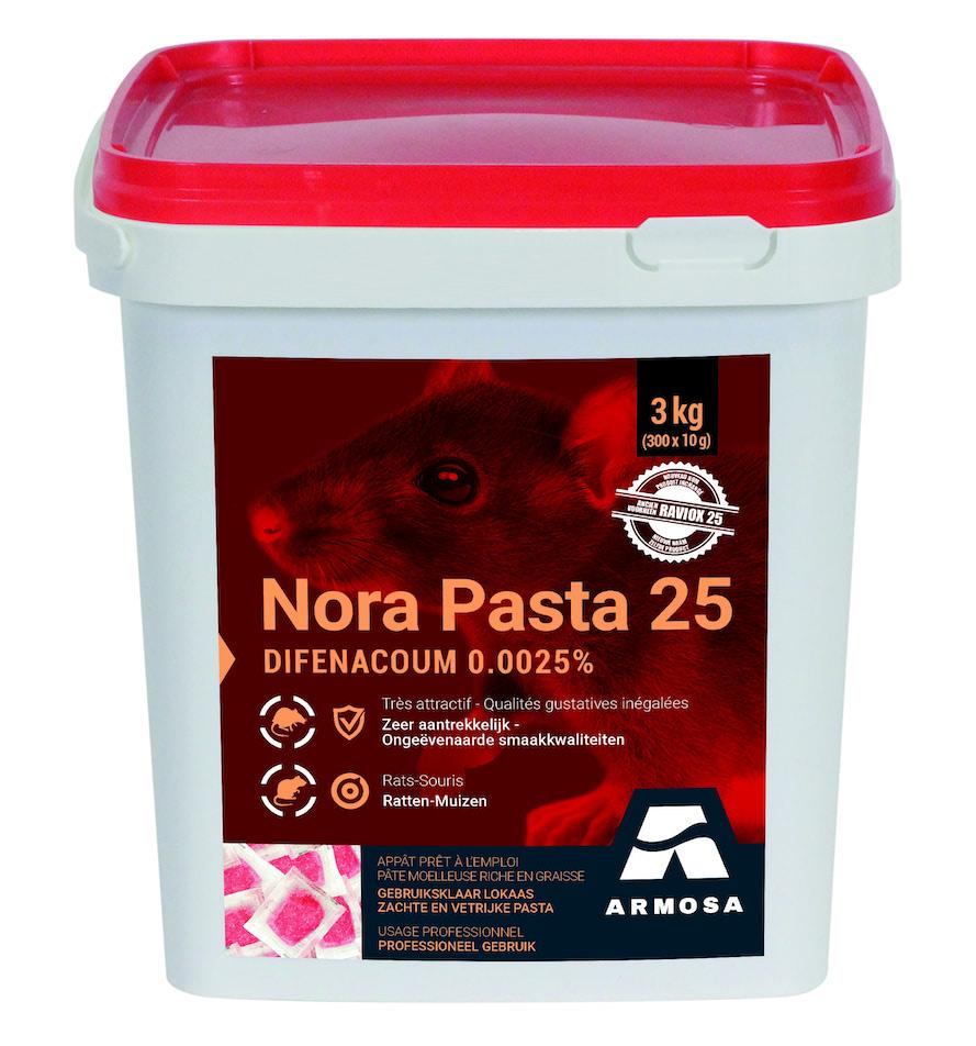 Professioneel rattenvergif Nora Pasta 3kg