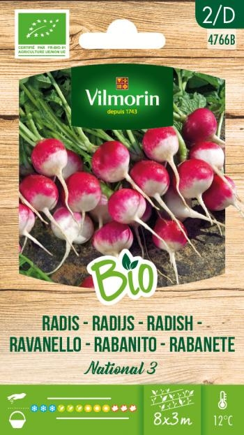 BIO groenten zaden Radijs National 3