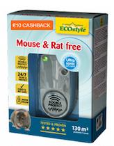 Muizen en rattenverjager op geluid en waterdicht 130m²