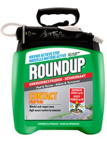 RoundUp pad en terras Bestrijden van onkruid 5L met drukspuit