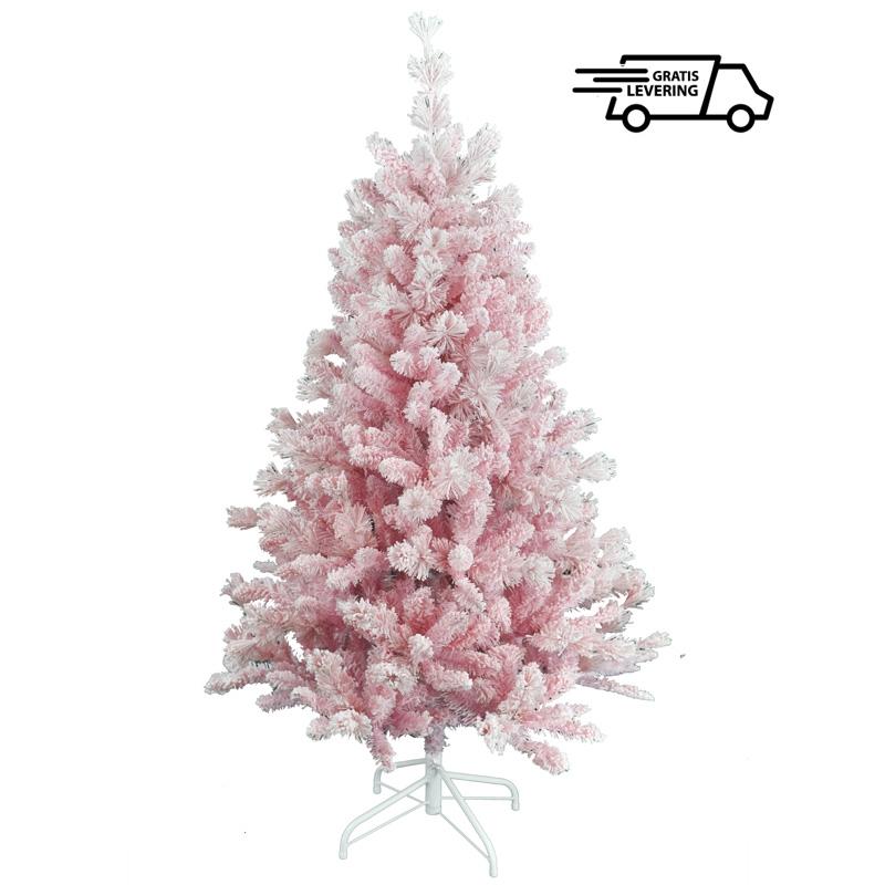 Roze Kunstkerstboom Pinky snow 150 cm