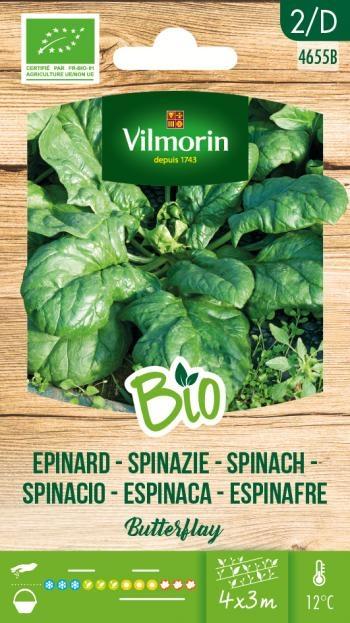 BIO groenten zaden Spinazie Butterflay