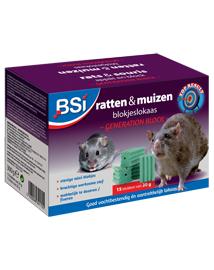 Sterk rattengif en muizengif in weersbestendige blokken 300g