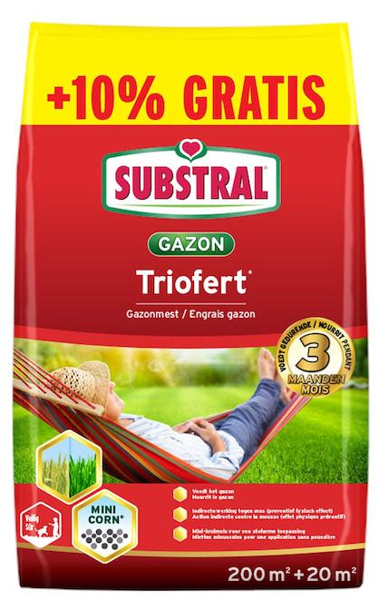 Substral Triofert gazonmeststof tegen mos 200m² + 10% gratis
