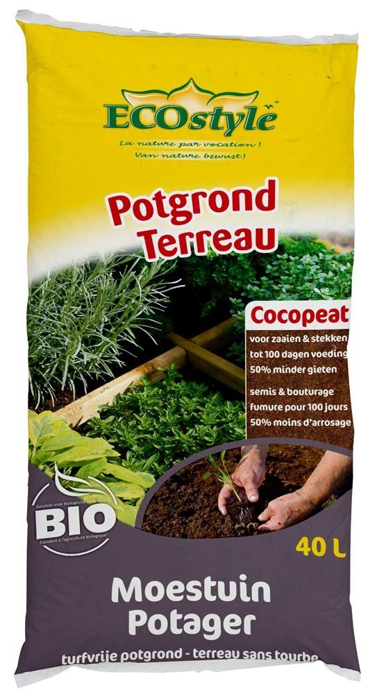 Ecostyle Cocopeat Kokos potgrond voor moestuin 40L