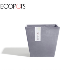 ECOPOTS Rotterdam vierkante bloempot Bluestone 40cm