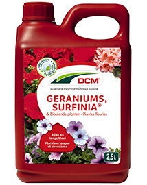 DCM Vloeibare meststof voor Geraniums en Surfinia's 2,5L