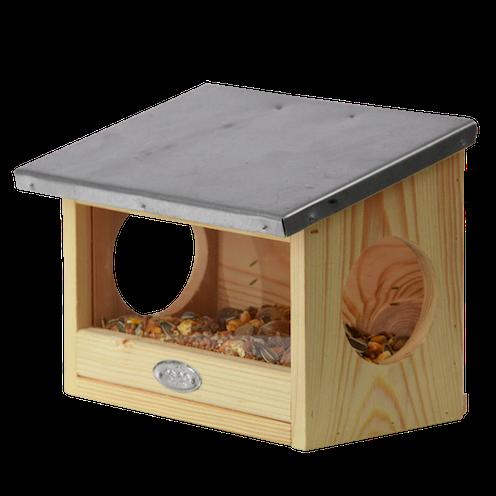Voederhuis eekhoorn uit hout