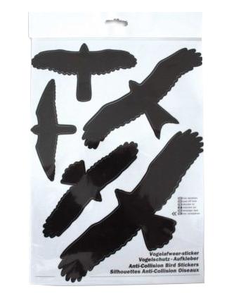 BSI Vogel stickers voor op ramen 5 stuks
