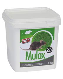 Professioneel rattengif Mulox tegen woelratten en woelmuizen 3kg