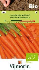 Bio groenten zaden Wortel Verbeterde Nantes 6g