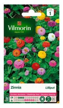 Bloemzaden Zinnia Lilliput Gemengd Vilmorin