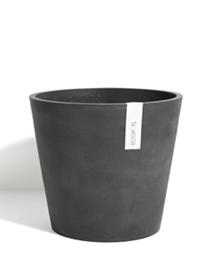 ECOPOTS Amsterdam Kleine ronde pot Dark Grey 30cm
