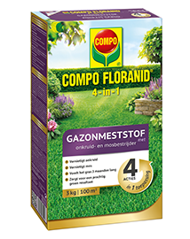 Compo Floranid gazonmeststof 4 in 1 3kg