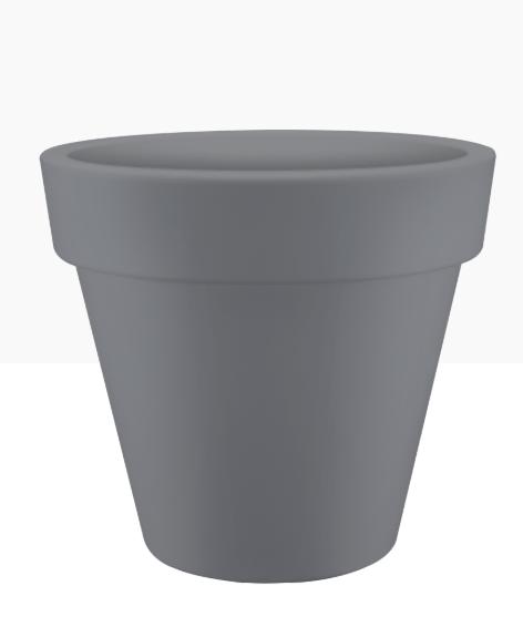 Elho Pure Round 50cm Stone grey