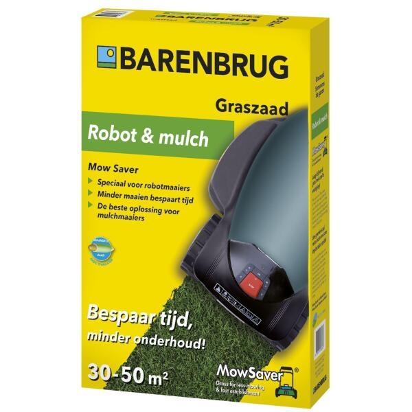 Graszaad Barenbrug Robot & Mulch ecologisch gras 30-50m²