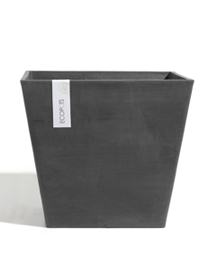ECOPOTS Rotterdam vierkante pot Dark Grey 40cm
