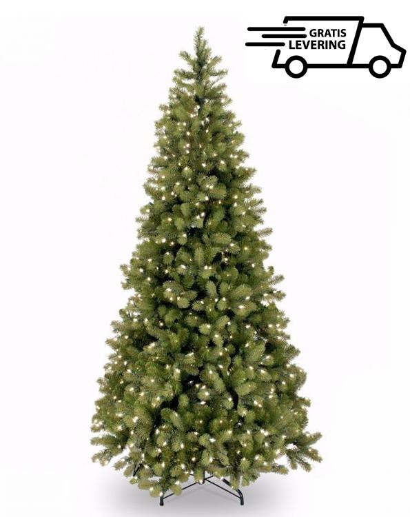Smalle kunstkerstboom met lichtjes Twinkle 198cm
