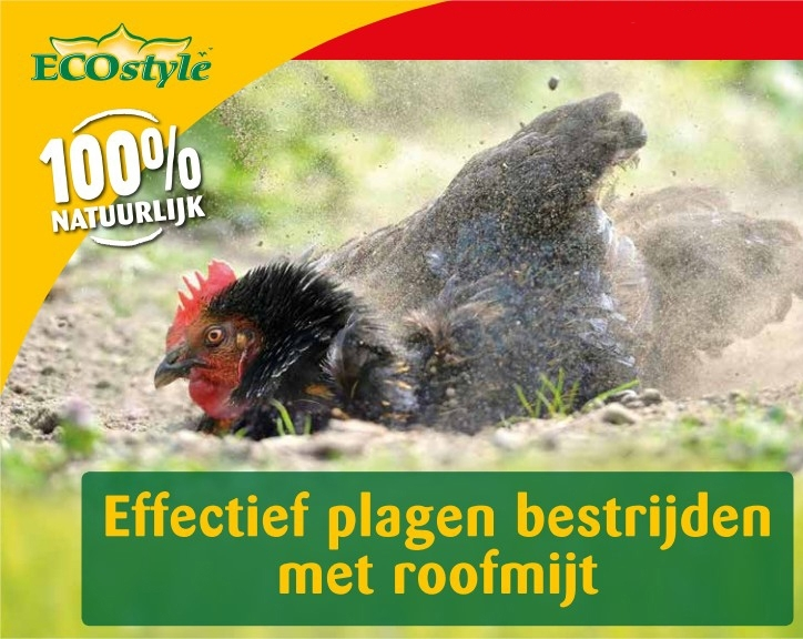 Bloedluis bij kippen biologisch bestrijden 5m²